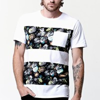On The Byas Floral Double Stripe Crew T-Shirt - Mens Tee