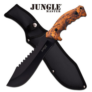 Jungle Master 15 Inches Machete With Orange Camo Handle