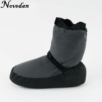 New Ladies Women Black Purple Grey Ballet Castle Flo Ballet Dance Warm Boot Warm-up Booties Size 37-43