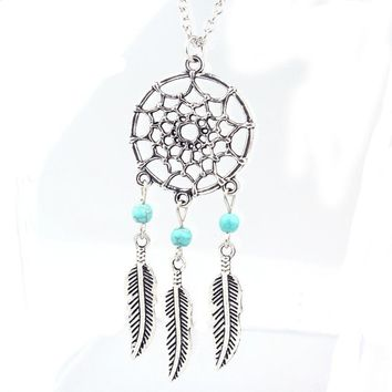 SUSENSTONE 2015 new Fashion Retro Jewelry Dream Catcher Pendant Chain Necklace