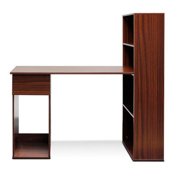 Furinno Boyate Computer Desk with Bookshelf