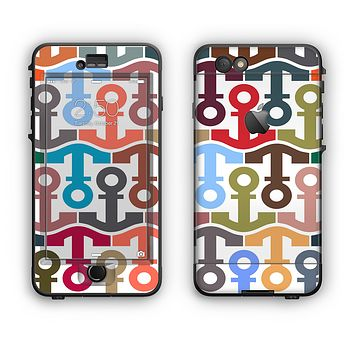 The Color Vector Anchor Collage Apple iPhone 6 LifeProof Nuud Case Skin Set