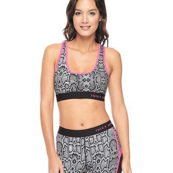 Sporty Python Racerback Bra by Juicy Couture