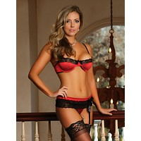 Precious Gems Bra, Garter and G-String