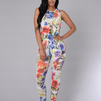 Aster Jumpsuit - White