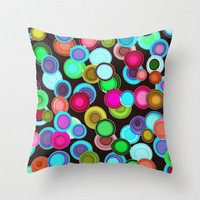bubbles Throw Pillow by Sharon Turner | Society6