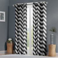 Intelligent Design Libra Chevron Window Curtain Pair|Designer Living
