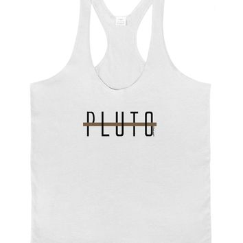 Planet Pluto Text Only Mens String Tank Top