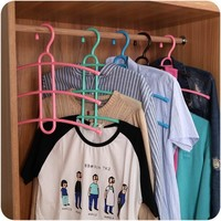 3 Layer Multifunctional Clothes Hanger High quality Anti-skid Plastic Clothes Rack of Fishbone Wardrobe Clothes Hanging