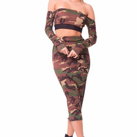 Master Of Disguise Camo Print Two Piece Set