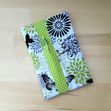 Steno Notepad Cover~ Butterfly with Lime Dot