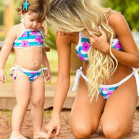 Mommy and Me Flower Bikini