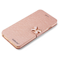 2016 Luxury Fashion Butterfly Built-in Card slot Silk pattern 4.7 inch Stand Flip Leather Mobile Phone Case For iPhone 6 6S