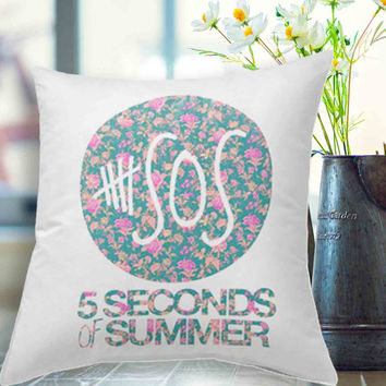 5sos 5 seconds of summer floral from joanheidipillow for 5sos room decor ideas
