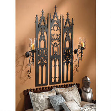 Gothic Cathedral Triptych Metal Wall Sculpture - MH30470 - Design Toscano
