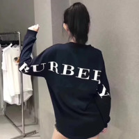 Burberry men and women long sleeve sweater top blouse
