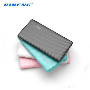 Original PINENG PN-958 10000mAh Power Bank Portable PowerBank with Dual USB Output LED Display Power Bank for iPhone7 Samsung S8