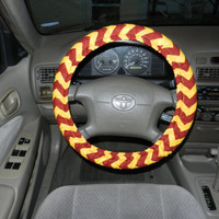 Maroon and Gold Chevron Steering Wheel Cover