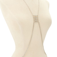 Rhinestoned Pendant Body Chain