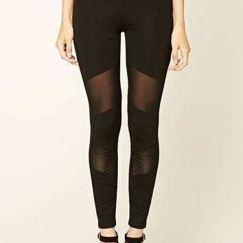 Mesh-Panel Leggings