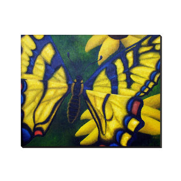 Transform and Be Free - Wrapped Canvas of Acrylic Paint Butterfly Fine Art