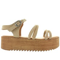 Musse & Cloud Ikane - Beige Strappy High Platform Sandal