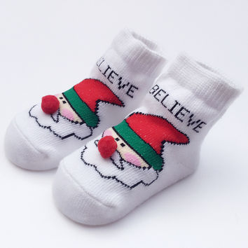 Cotton Christmas Baby Cartoons Pattern Gifts Socks [8854575174]