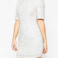 ASOS Premium Pearl Scatter Mini Bodycon Dress