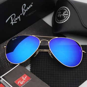 Ray Ban Aviator Black with Blue G15 Lens RB3025 L2823