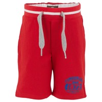Red Fleece Track Shorts
