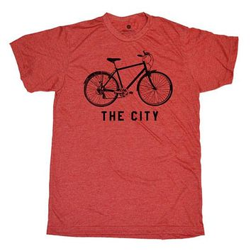 Bike The City Heather Red
