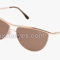 Tom Ford Helene Ft 0182 Sunglasses - Gold/brown (56/13/135)