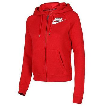 MDIGON1O Women Fashion NIKE Hooded Top Sweater Pullover Sweatshirt Day First