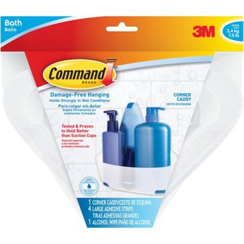 Command Shower Caddy, 1 Caddy, 4 Mounting bases, 4 Large Strips, BATH12 - Walmart.com