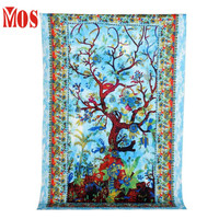 AG 2  Mosunx Business 2016 Hot Selling   Blue Tree Hippy Tapestry Wall Hanging Throw Window Doorway Door Curtain drop shipping