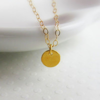 Tiny Dot Necklace, 14kt Gold Filled Necklace, Gift for Her