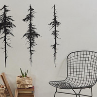Tree Wall Decals - Modern Vinyl Decal, Unique Gift Idea, Home Decor, Removable Wall Art