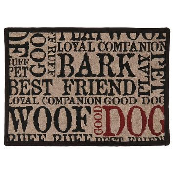Park B. Smith Good Dog Indoor Outdoor Patio Rug - 13'' x 19'' (Beige/Khaki)