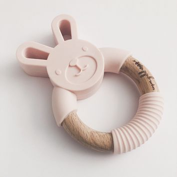 Bunny Ring Teether - Blush Pink