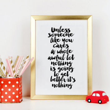 DR SEUSS QUOTE, Dr Seuss Nursery, Kids Wall Art,Children Wall Decor,Kids Gift,Nursery Decor,Dr Seuss Baby, Typography Print,Quote Printable