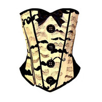 Mustache Corset by kawaiiparlor on Etsy