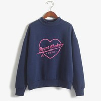 2018 Women Spring Fashion Harajuku Kawaii Tops Long-sleeved Pullovers Hoodies Twice Heart Shaker Sweatshirts for Girls Clothing