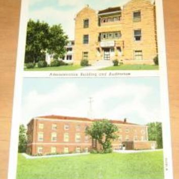 Vintage Nebraska Trade School Milford Nebraska Postcard