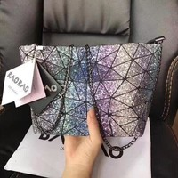Gotopfashion issey miyake Starry sky package noctilucent geometry  Crossbody Satchel Shoulder Bag