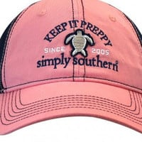 """Simply Southern Hat """"Keep It Preppy."""" - Pink/ Navy"""