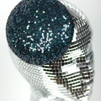 Sequin Pill Box Cocktail Hat, Wedding Hat, Various Colours