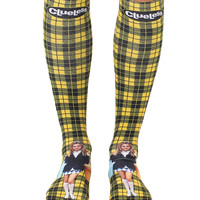 Clueless Plaid Knee High Socks