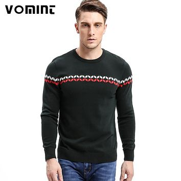 Vomint 2017 Mens Sweaters Pullovers O Neck Striped England Soilders Link Preppy Style Fashion Men Sweaterhirts O6VI6A79
