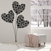 Vinyl Wall Decal Flowers Bouquet Heart Balloons Love Romance Stickers Unique Gift (1322ig)