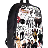 Rock band Collage b600f139-f0d8-4302-96c8-65589fedc4c8 for Backpack / Custom Bag / School Bag / Children Bag / Custom School Bag *02*